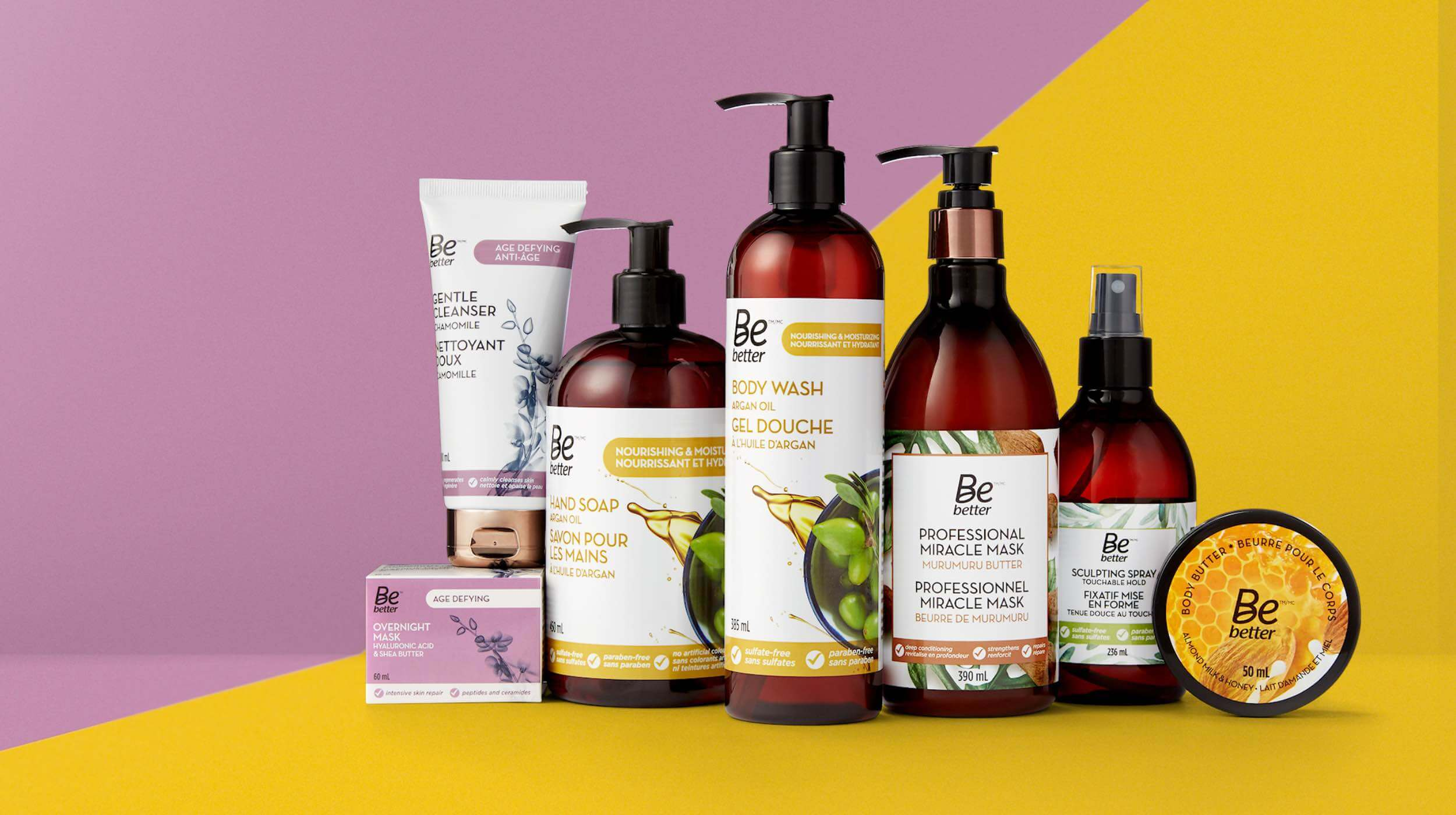 Refreshed brand identity for their  Be Better product line